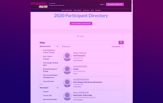 Mapic Digital Participant Directory